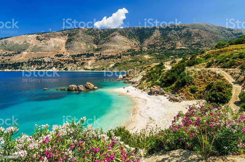 Vouti beach, Kefalonia island, Greece stock photo