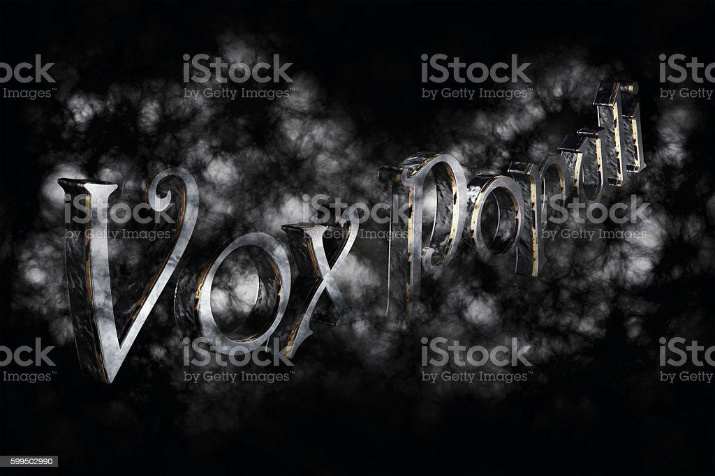 Vox Populi 3D Rendering - latin phrase stock photo