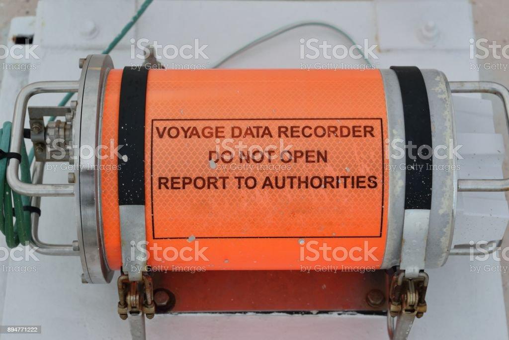 voyage data recorder stock photo