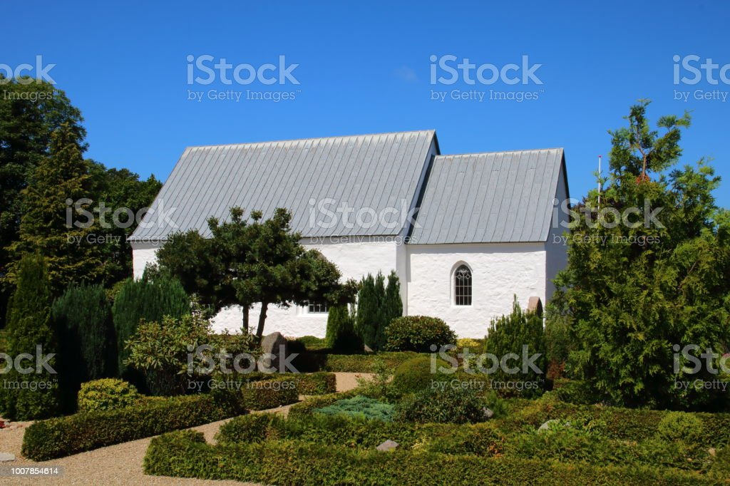 Vrads Kirke church on Hærvejen the army road pilgrim route stock photo