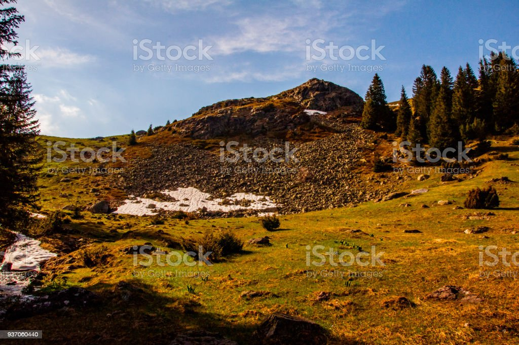 Vranica mountain in the early spring stock photo