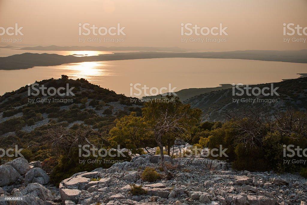 Vransko Lake and Kornati Islands stock photo