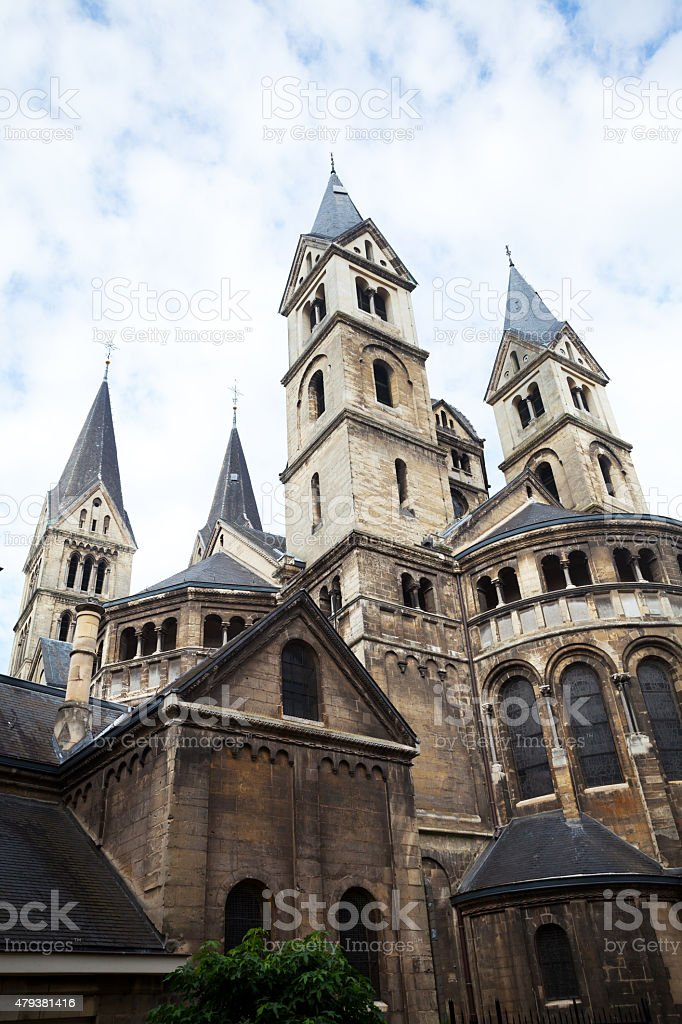 Vrouwe Munsterkerk and basilica of Roermond stock photo