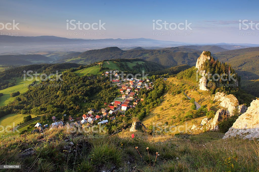 Vrsatec and Vrsatecke Podhradie village - Slovakia stock photo