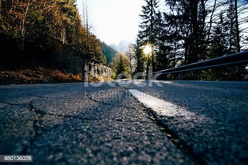 Straße über den Vrsic Pass nach Bovec