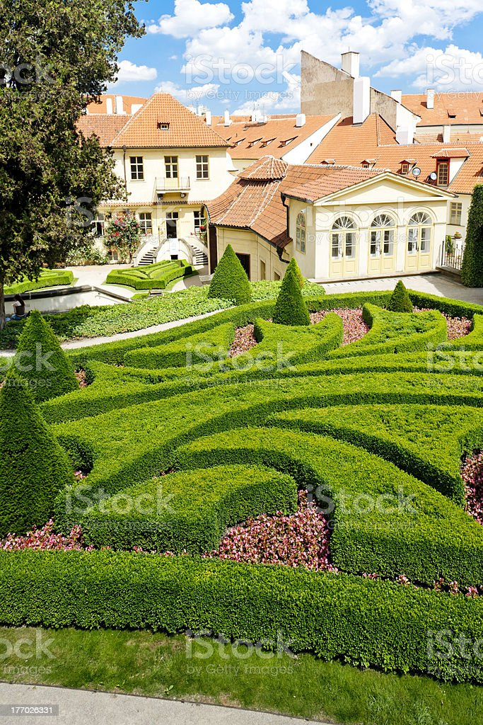 Vrtbovska Garden, Prague stock photo