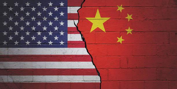 USA vs China stock photo