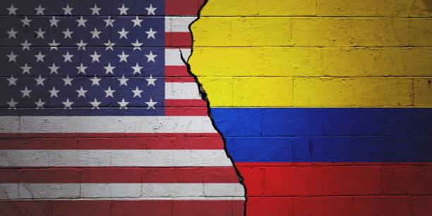 USA vs Colombia stock photo