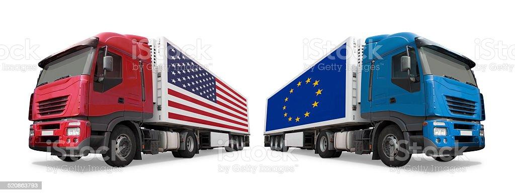EEUU vs. UE - foto de stock