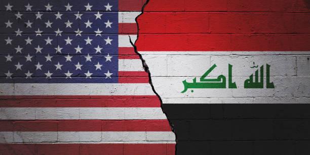USA vs Iraq stock photo
