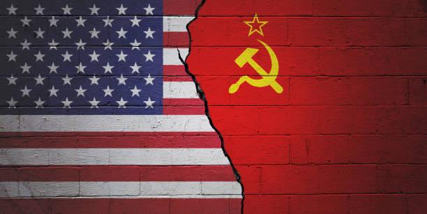 USA vs USSR stock photo
