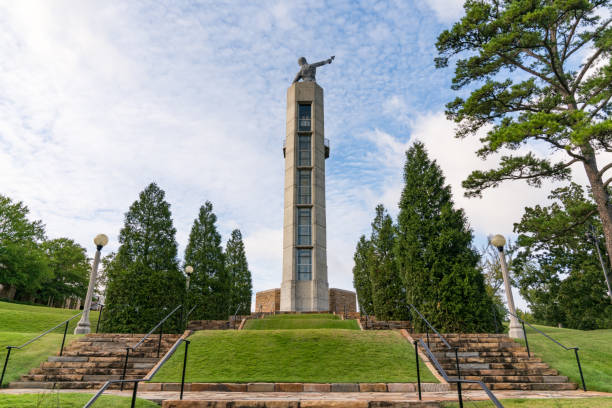 Vulcan Park Observation Tower and Statue stock photo