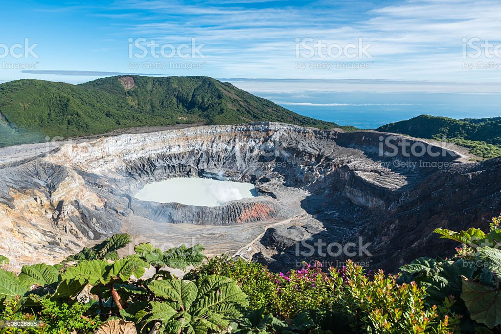 Vulcano Poas in Costa Rica stock photo