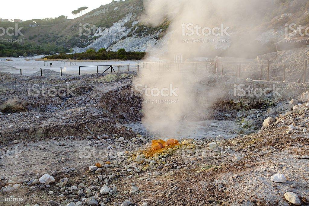 Vulcano Solfatara, Bay of Naples, Italy stock photo