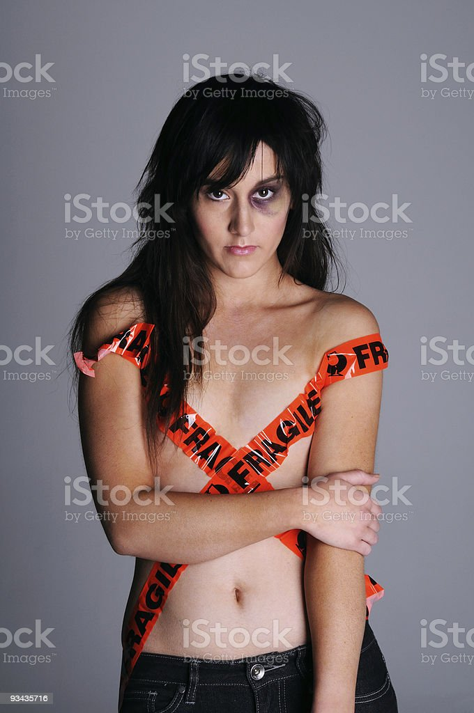 vulnerable girl stock photo