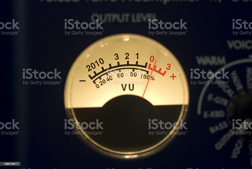 Vumeter stock photo