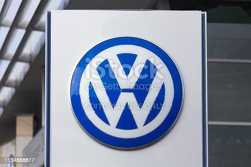 bonn, North Rhine-Westphalia/germany - 19 10 18: vw sign in bonn germany