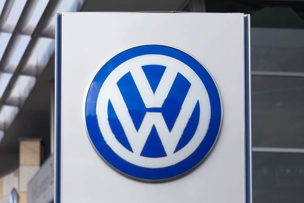 vw sign in bonn germany bonn, North Rhine-Westphalia/germany - 19 10 18: vw sign in bonn germany vehicle brand name stock pictures, royalty-free photos & images