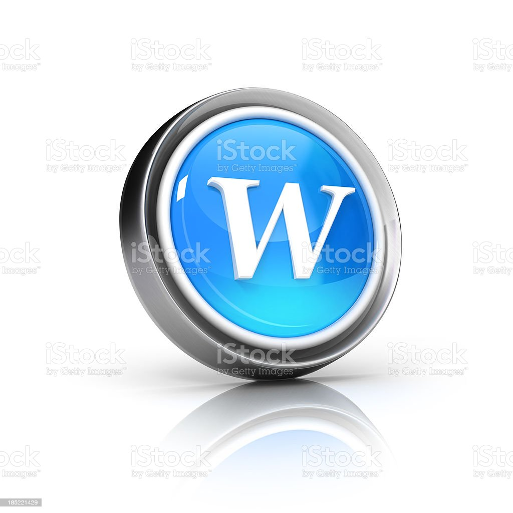 w letter icon royalty-free stock photo