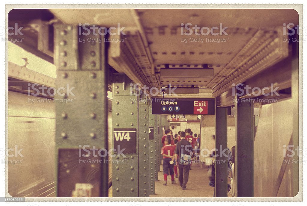 W4th Street Subway Station - Vintage Postcard stock photo