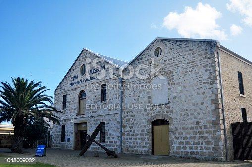istock Wa museum shipwreck galleries on Cliff Street in Fremantle port city in Perth, Australia 1048009032