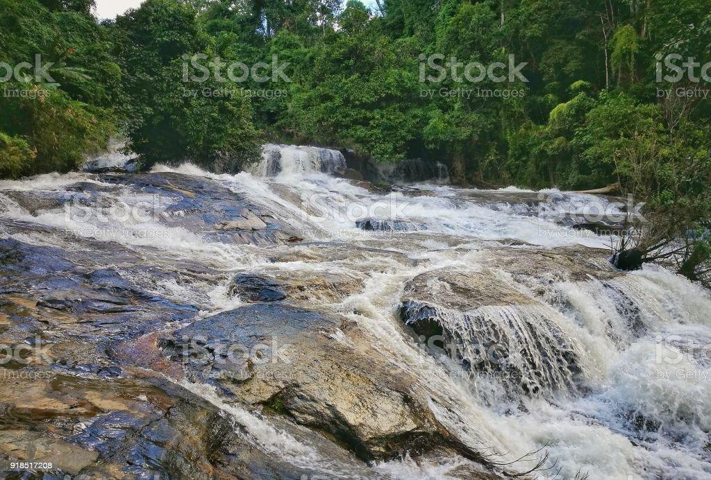 Wachirathan Waterfall Doi Inthanon National Park, Chiang Mai stock photo