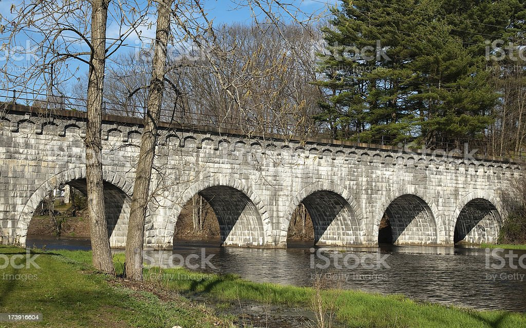 Wachusett Aqueduct stock photo