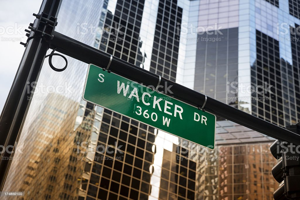 Wacker Drive in Chicago royalty-free stock photo