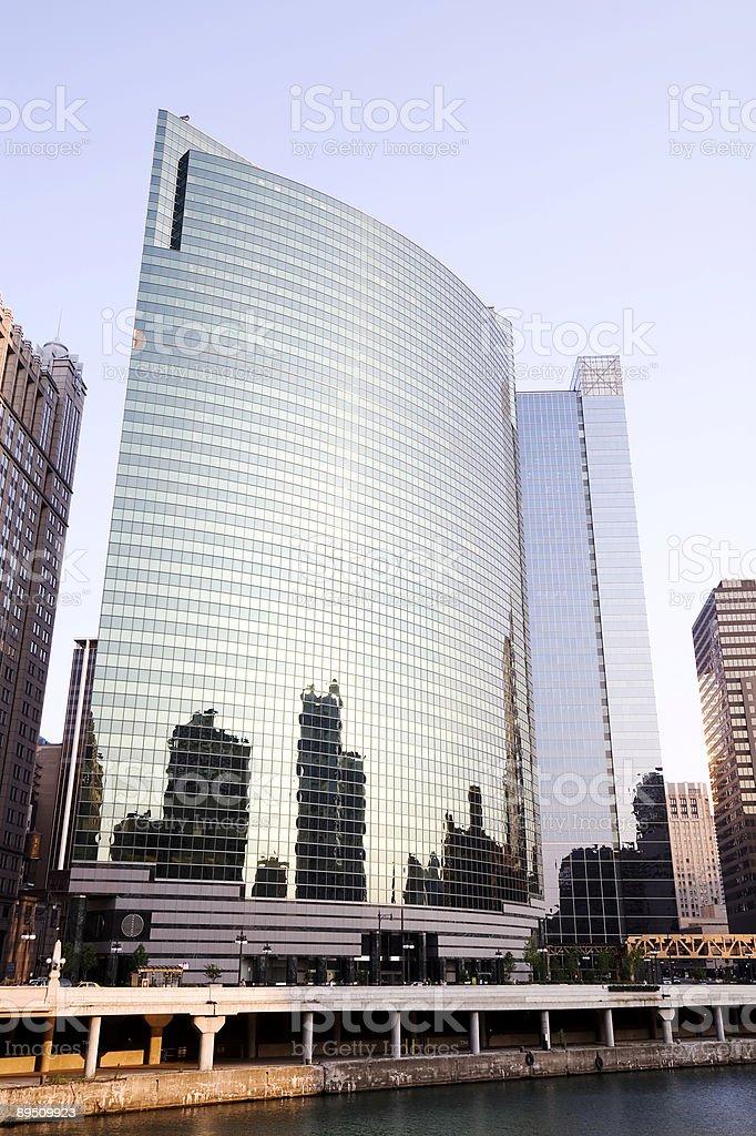 Wacker Drive Riverfront Skyscraper royalty-free stock photo