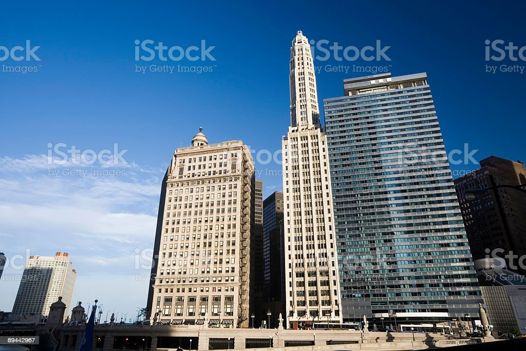 Wacker Drive Skyscrapers, Chicago royalty-free stock photo