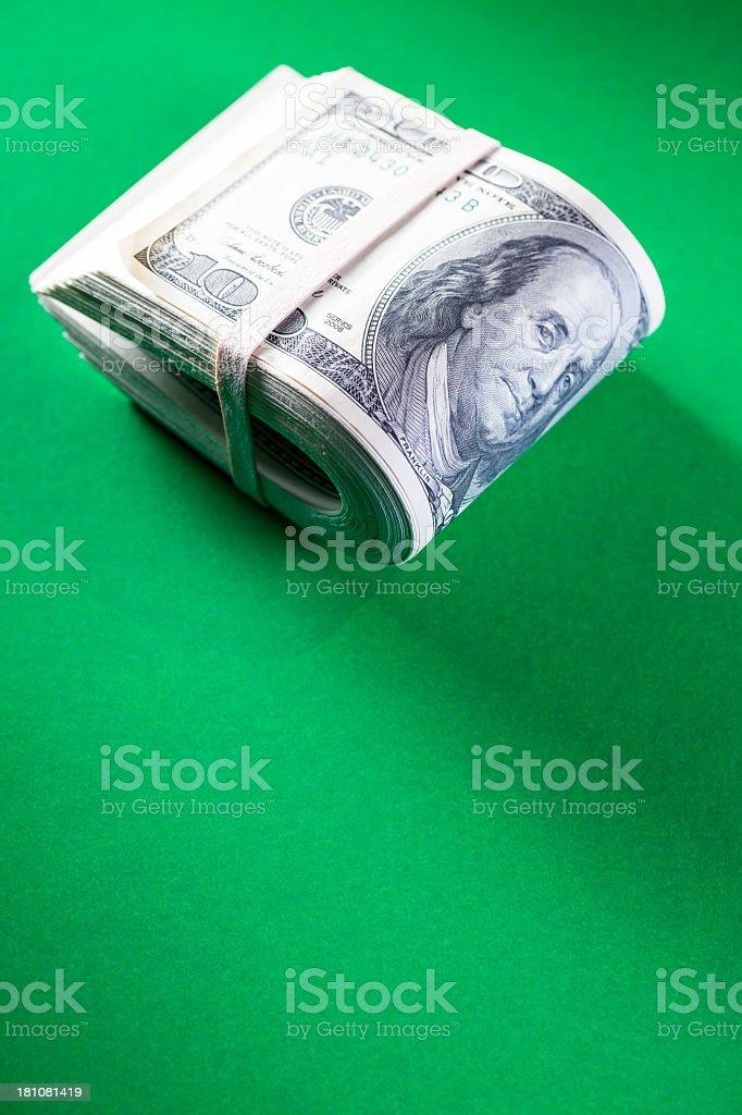 Wad of Money royalty-free stock photo