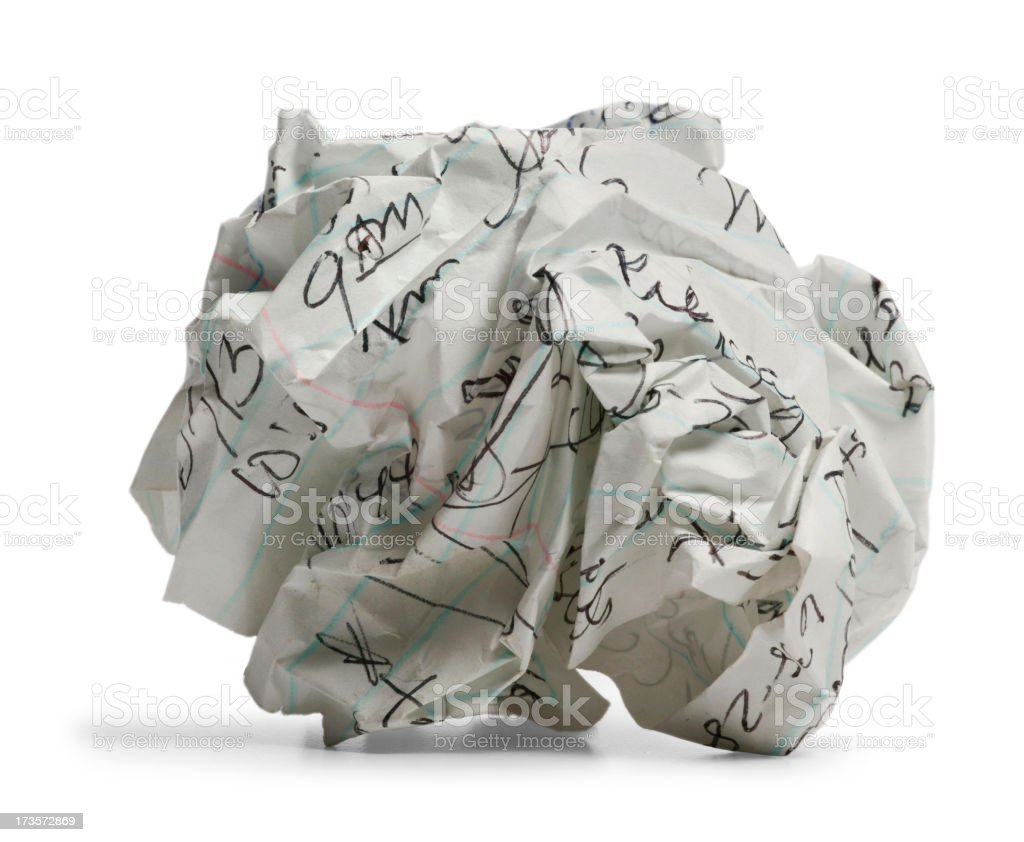 Wad of Paper royalty-free stock photo