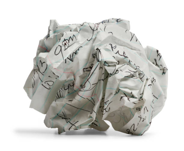 Wad of Paper stock photo