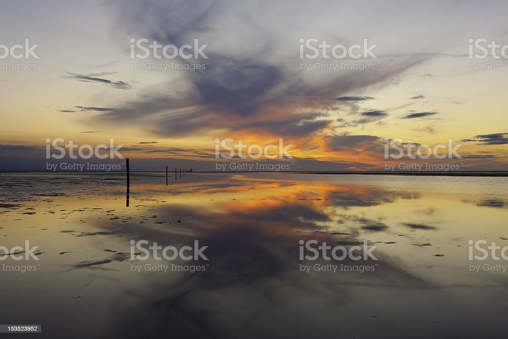 Wadden sea royalty-free stock photo