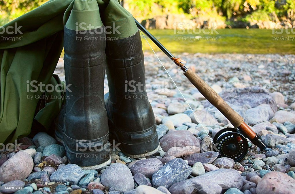 Waders stock photo