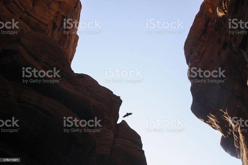 Wadi al mujib Natural Reserve,Grand Canyon of Jordan royalty-free stock photo