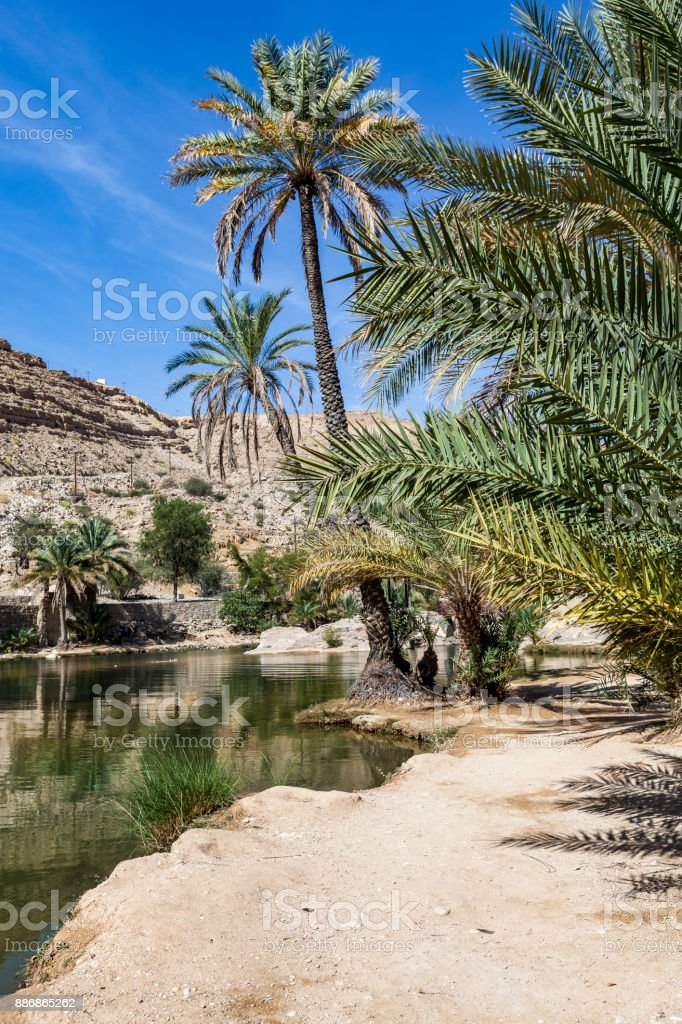 wadi bani khalid, ash sharqiyah region, oman stock photo