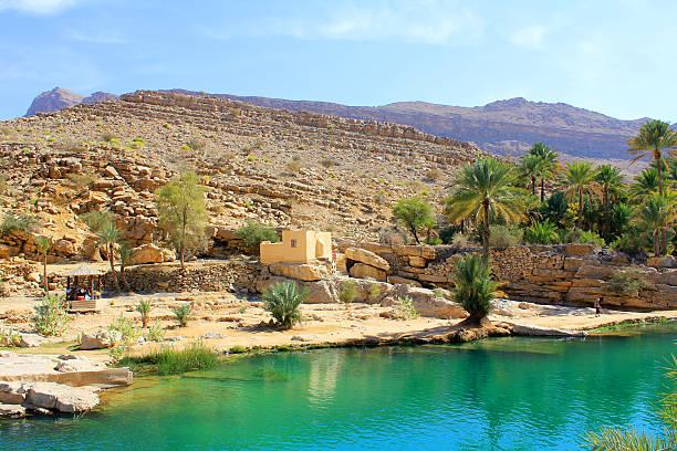 Wadi Bani Khalid, Oman waterpool in Wadi Bani Khalid, Oman riverbed stock pictures, royalty-free photos & images