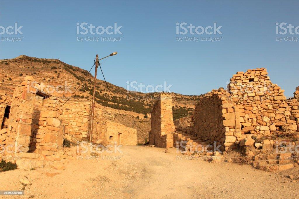 Wadi Dana Village, Jordan stock photo