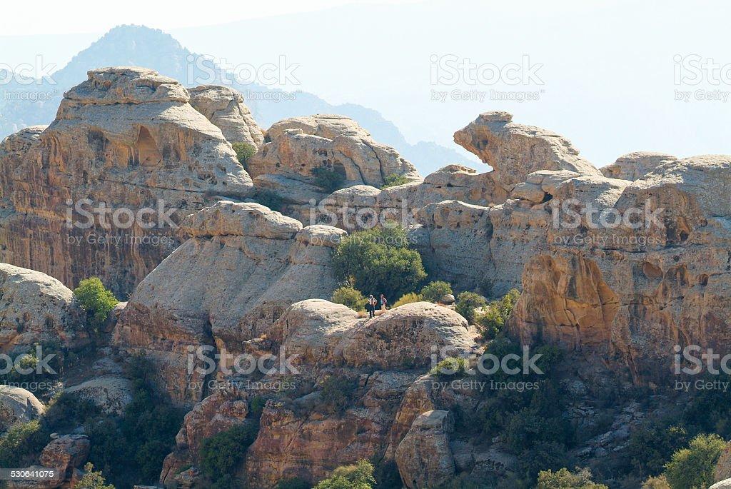 Wadi Dana-National park stock photo