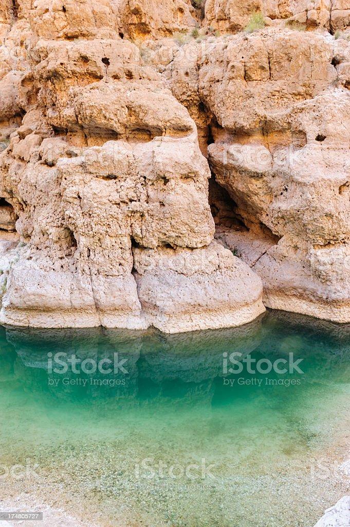 Wadi detail stock photo