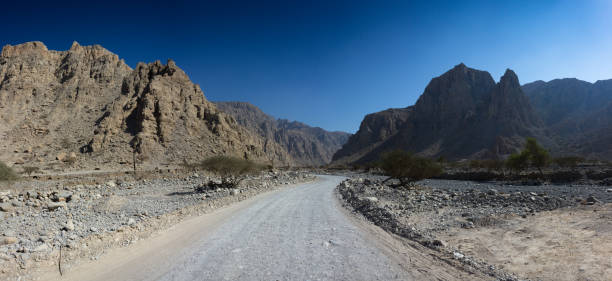 Wadi Ghail in Ras Al Khaimah stock photo