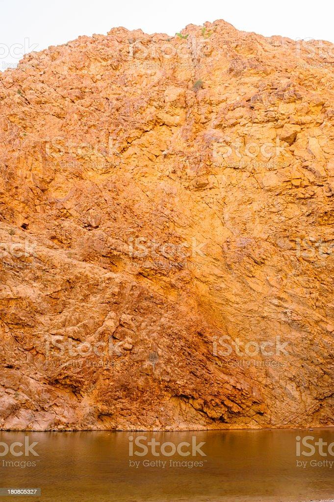 Wadi rocks stock photo