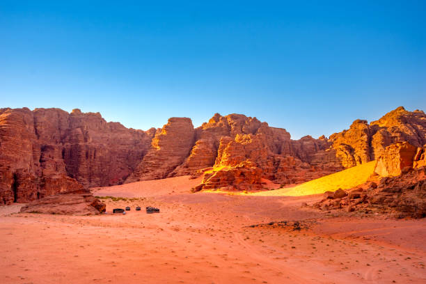 Wadi Rum desert in Jordan stock photo