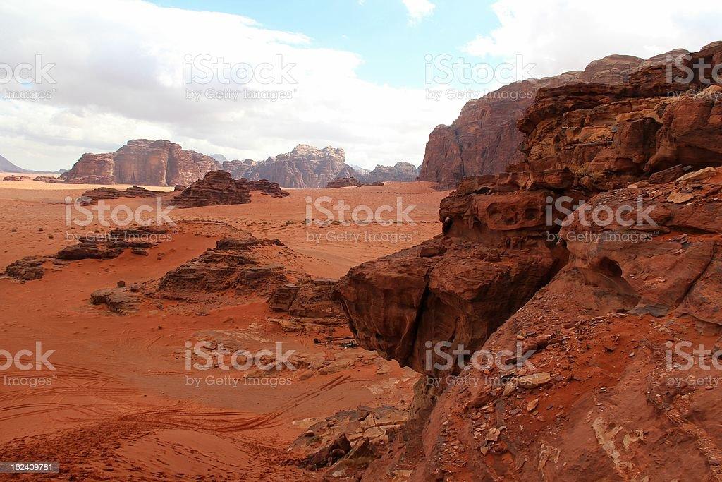 Wadi Rum desert - Jordan royalty-free stock photo