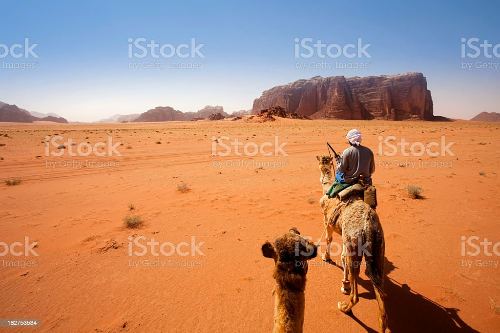 Wadi Rum Desert, Jordan royalty-free stock photo