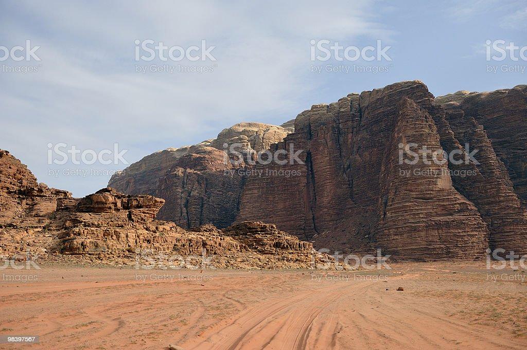 와디럼 사막 사막 royalty-free 스톡 사진