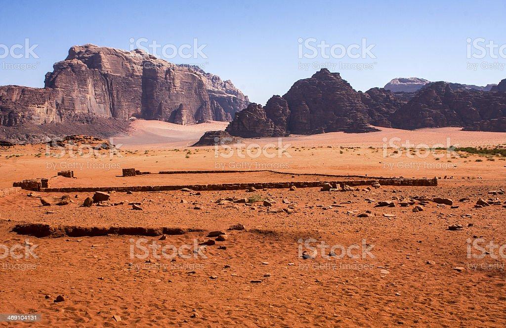 Wadi Rum dessert landscape stock photo