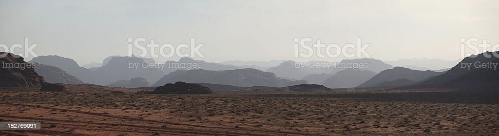 Wadi Rum panorama royalty-free stock photo