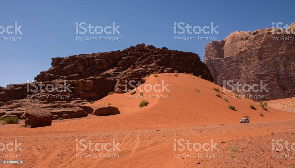 Wadi Rum sands stock photo